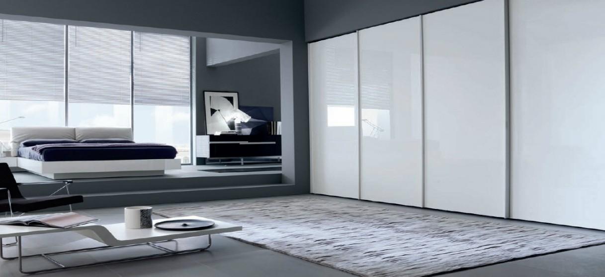 ארון הזזה דגם מילאנו 4 דלתות זכוכית