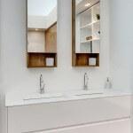 ארון שירות לאמבטיה לבן תלוי